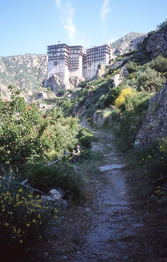 Path to Simonopetra Monastery, Mount Athos